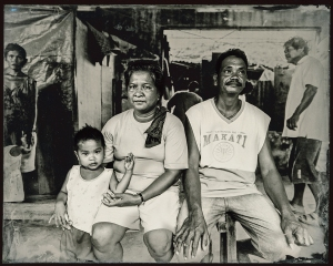 A wet-plate ambrotype of one of the 60 Filipino families were forced to move into Leyte Provincial Jail after being left homeless and destitute by Typhoon Haiyon. For close to a year, they lived alongside their incarcerated relatives, some of whom were accused of rape and homicide.