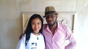 Eliza Vitri Handayani with Nigerian-American author Teju Cole at the 2015 Ubud Writers & Readers Festival. Photo supplied.