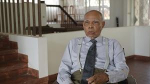 Still from the documentary of Cambodian architect Vann Molyvann